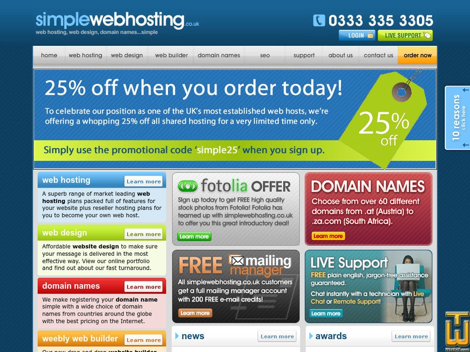 simplewebhosting.co.uk Screenshot