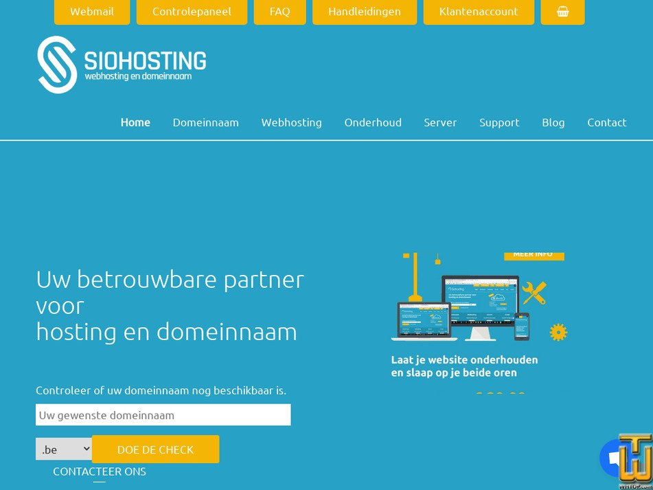siohosting.be Screenshot