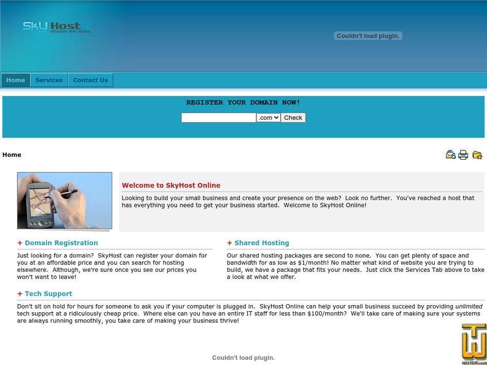 skyhostonline.com Screenshot