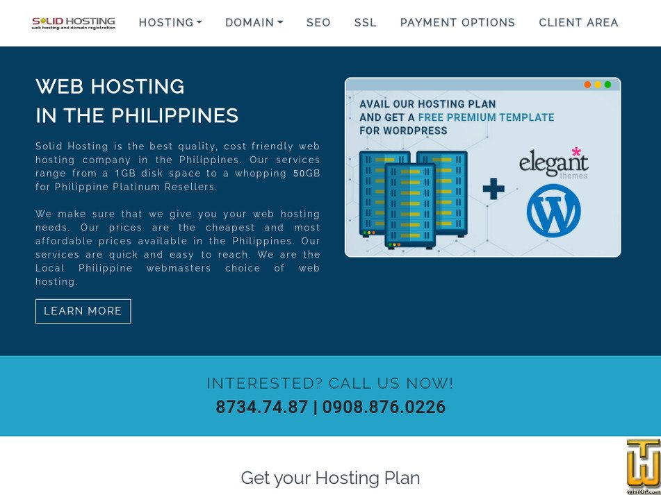 solidhosting.ph Screenshot