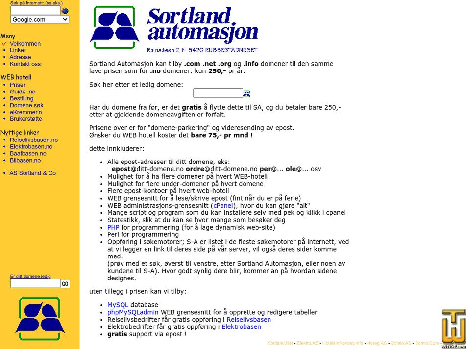 sortland.net Screenshot