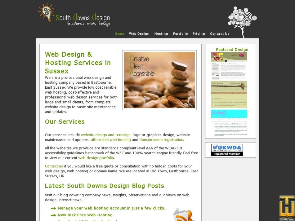southdownsdesign.co.uk Screenshot