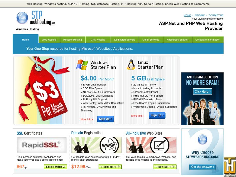 stpwebhosting.com Screenshot