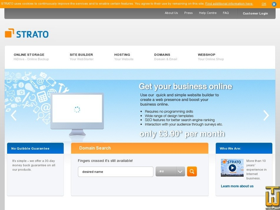 strato-hosting.co.uk Screenshot