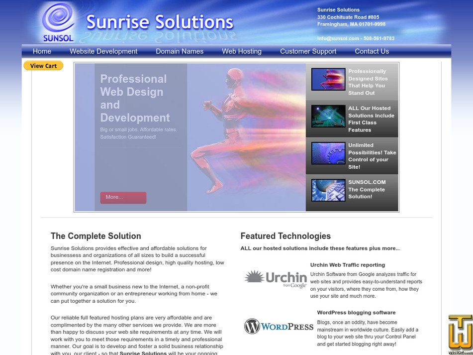 sunsol.com Screenshot