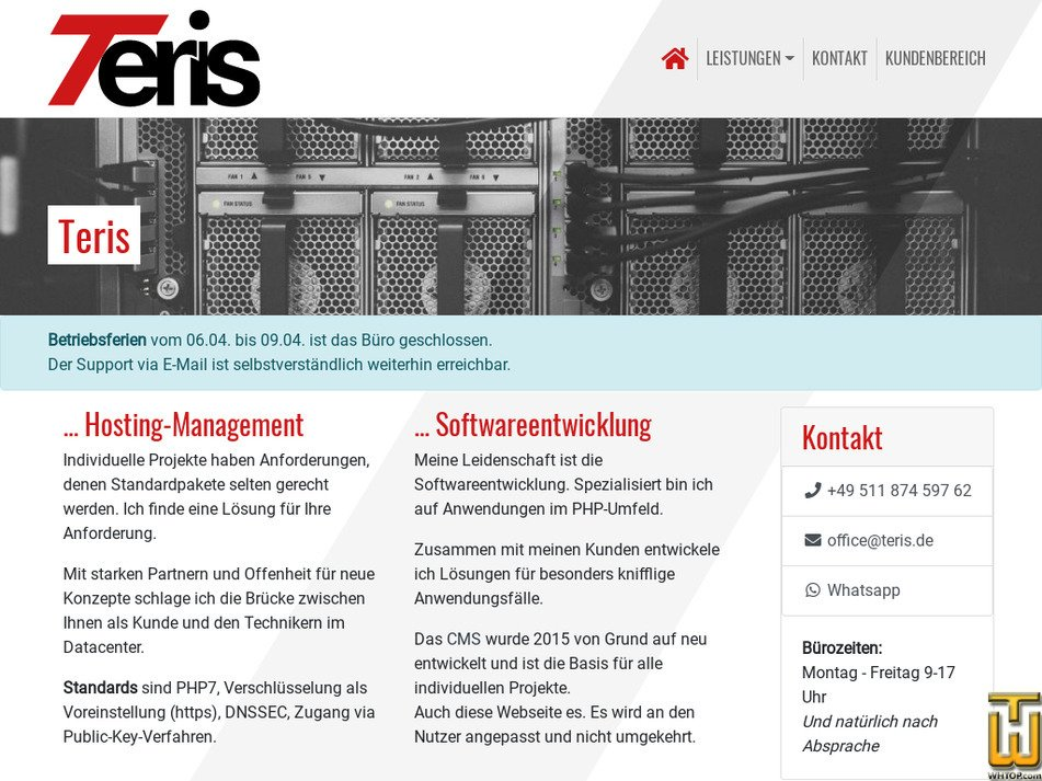 teris.de Screenshot