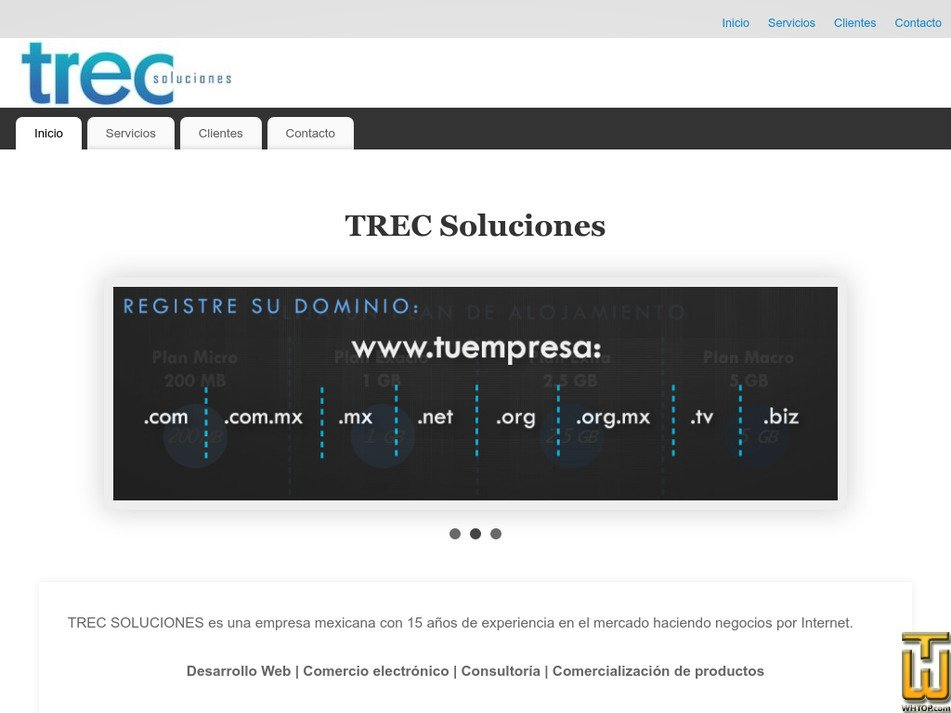 trec.com.mx Screenshot