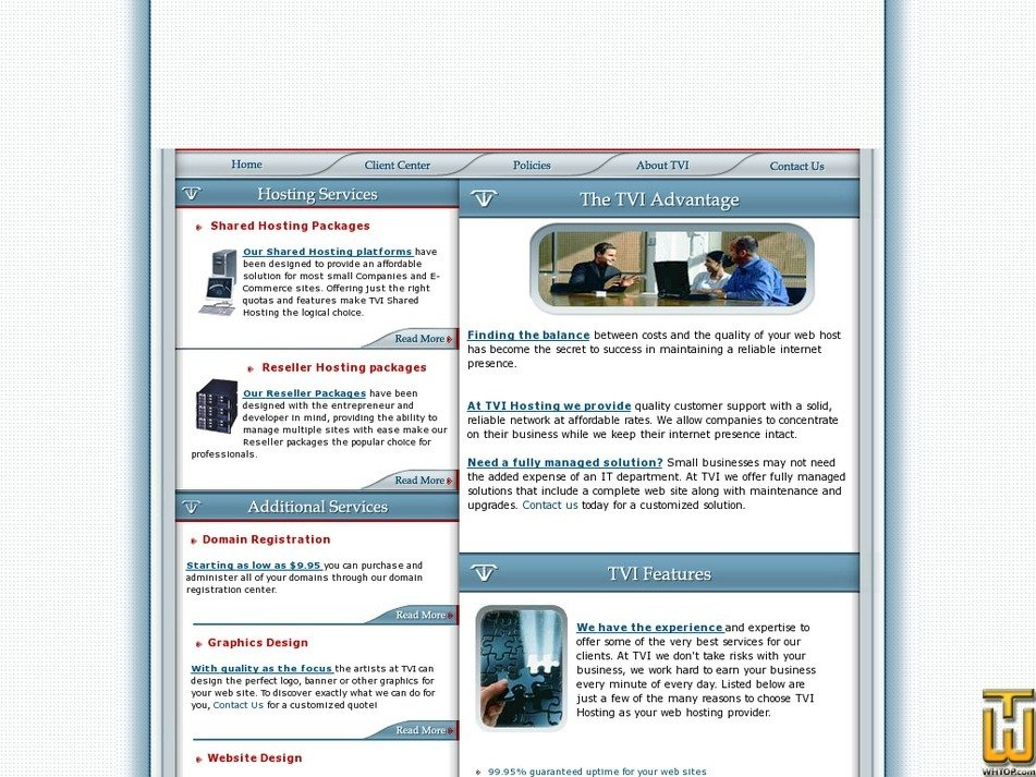 tvihosting.com Screenshot
