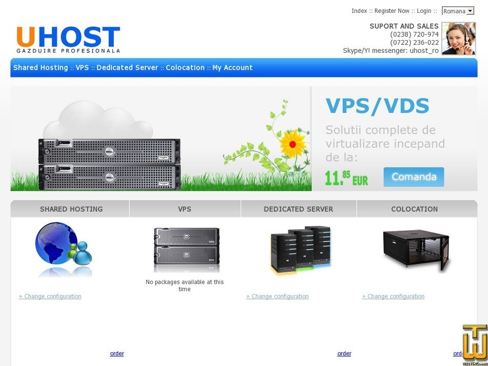 uhost.ro Screenshot