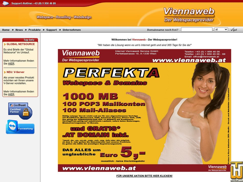 viennaweb.at Screenshot