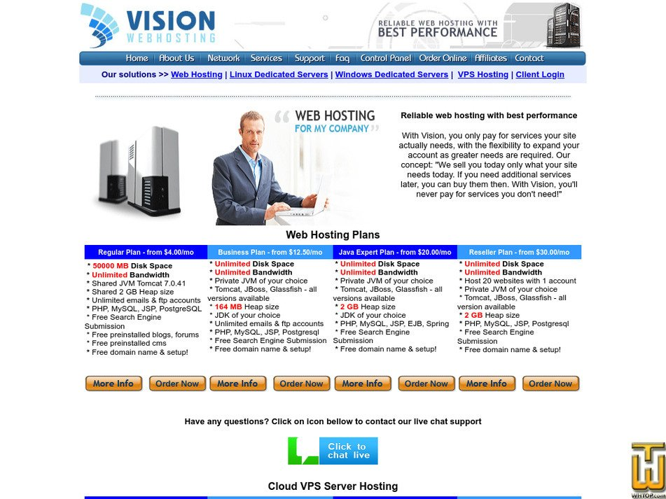 visionwebhosting.net Screenshot