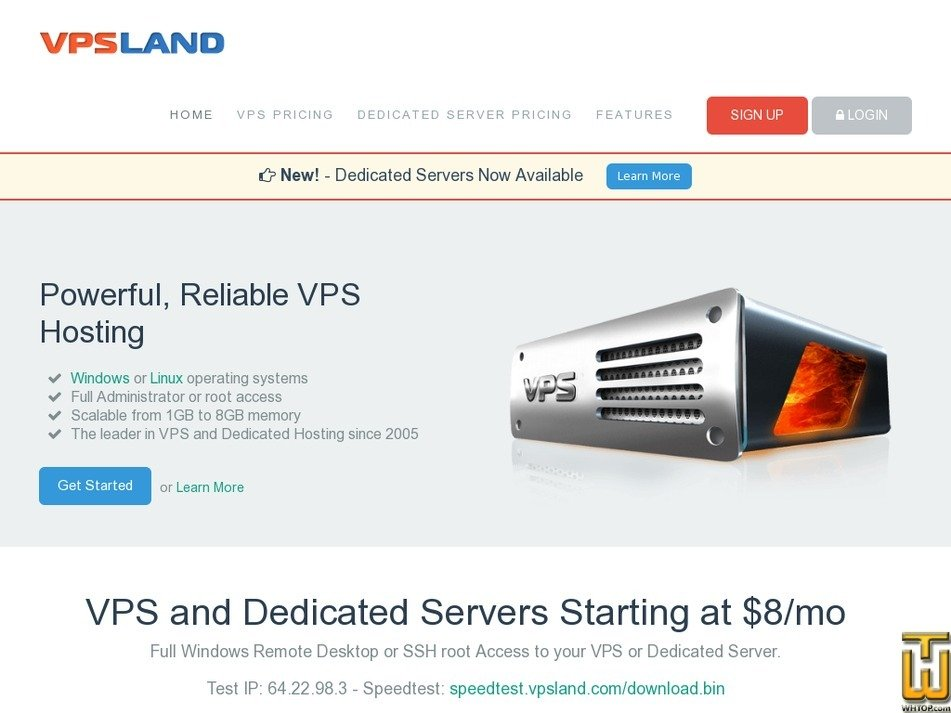 vpsland.com Screenshot