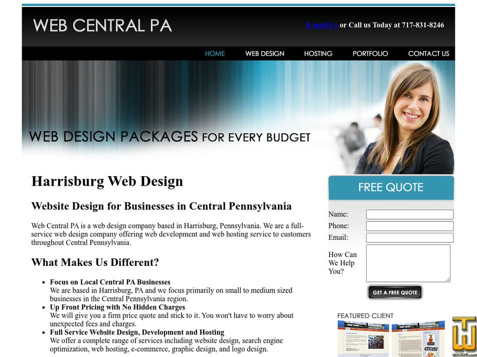 webcentralpa.com Screenshot