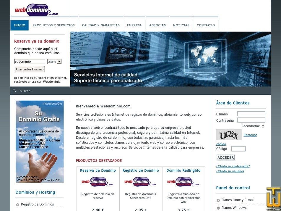 webdominio.com Screenshot