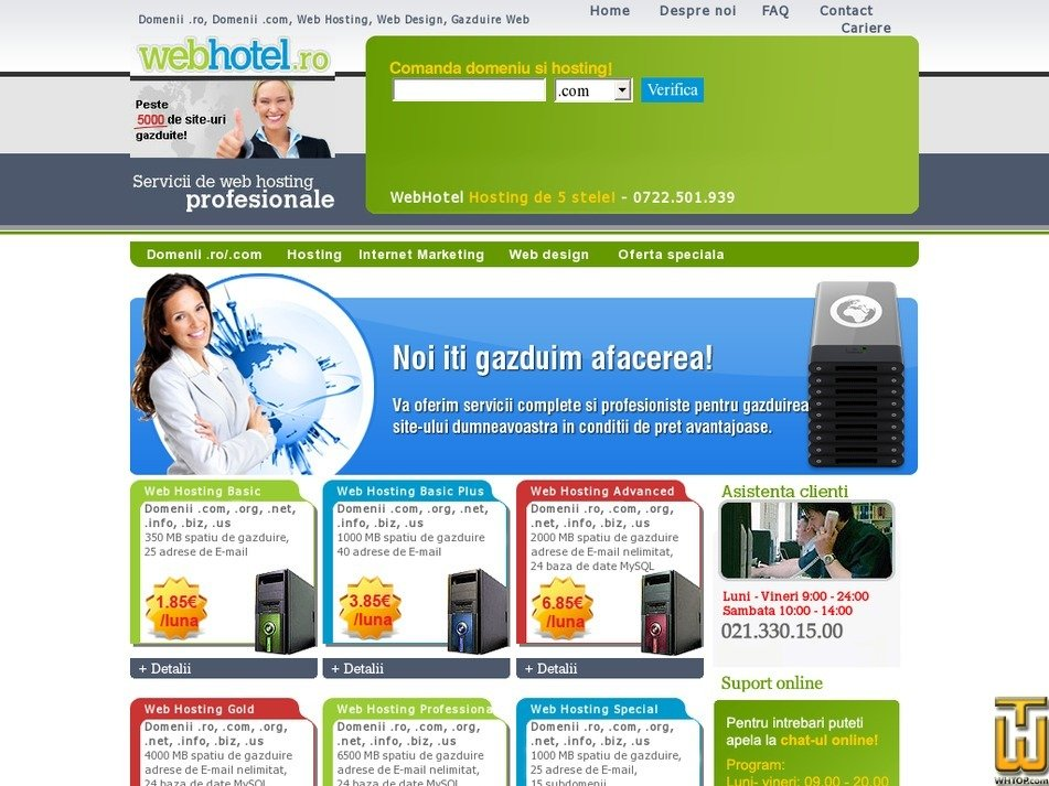 webhotel.ro Screenshot