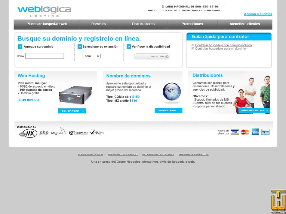 weblogicahosting.com Screenshot
