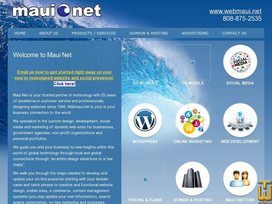 webmaui.net Screenshot