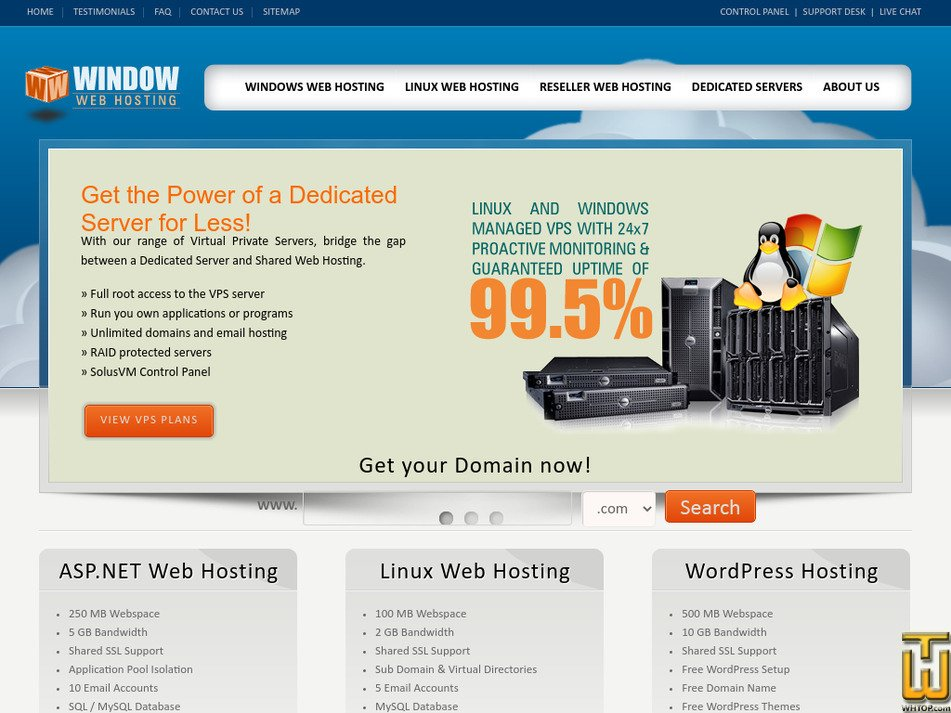 windowwebhosting.com Screenshot