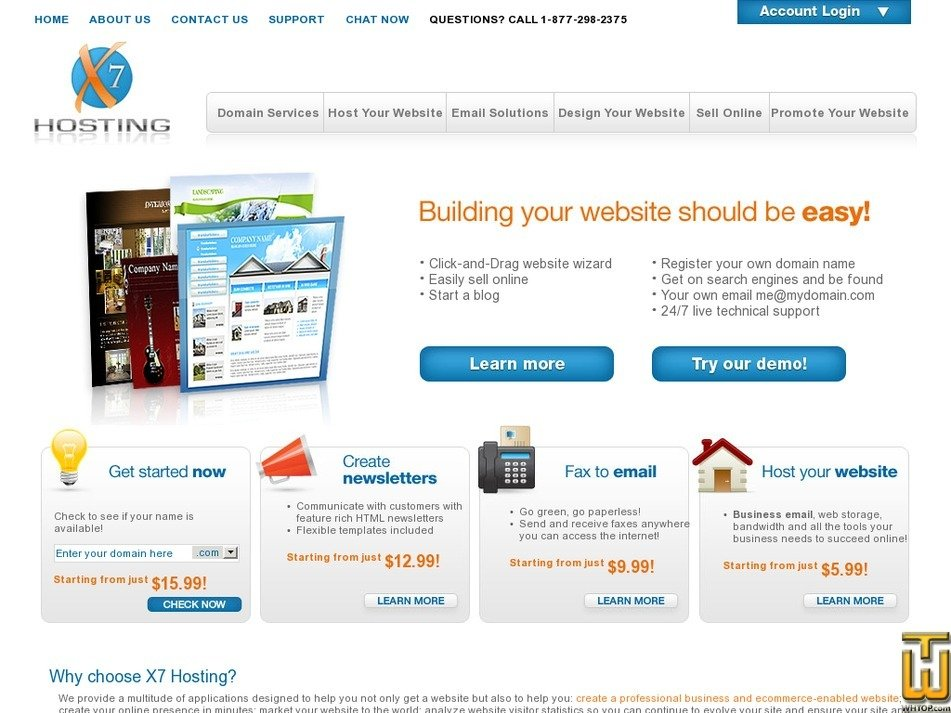 x7hosting.com Screenshot