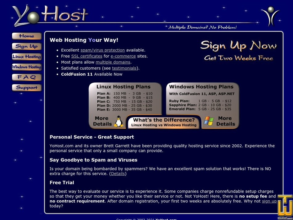 yohost.com Screenshot