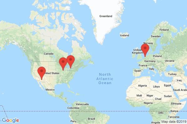 Datacenter locations for greengeeks.com