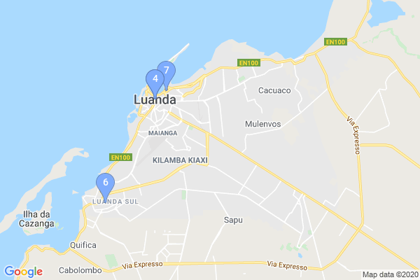 Top Providers - Location Map for Angola