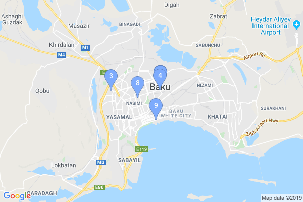 Top Providers - Location Map for Azerbaijan