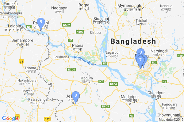 Top Providers - Location Map for Bangladesh