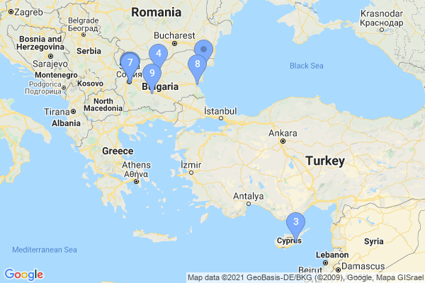 Top Providers - Location Map for Bulgaria