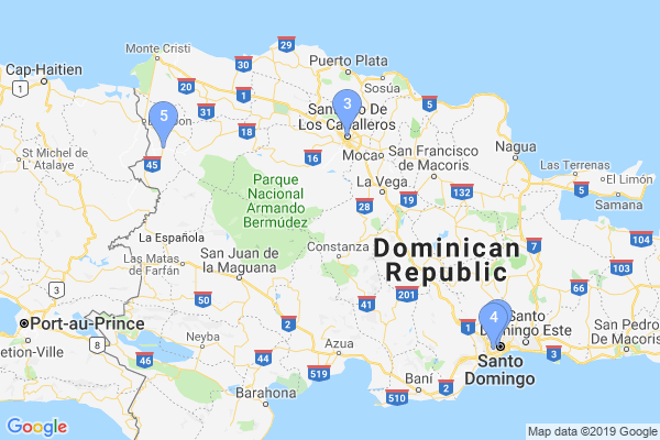 Top Providers - Location Map for Dominican Republic