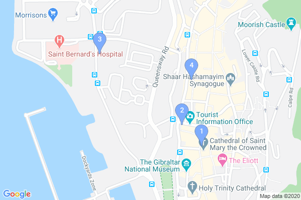 Top Providers - Location Map for Gibraltar