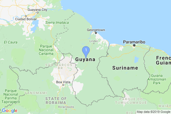 Top Providers - Location Map for Guyana