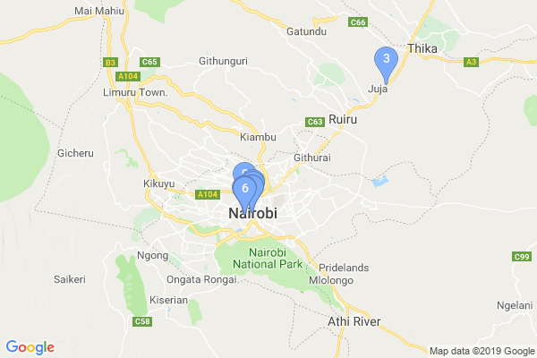 Top Providers - Location Map for Kenya