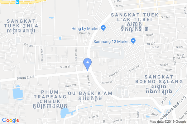 Top Providers - Location Map for Cambodia
