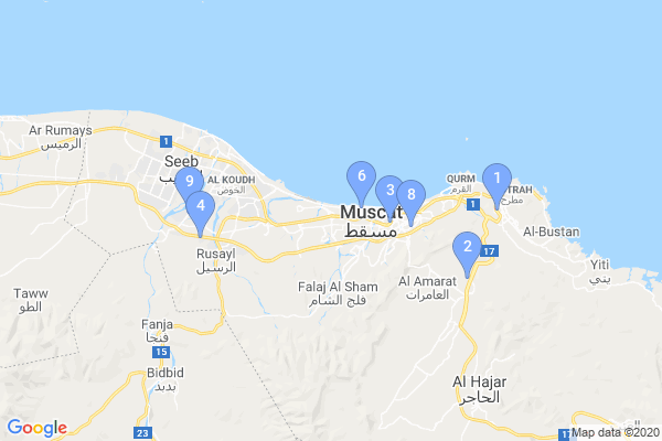 Top Providers - Location Map for Oman