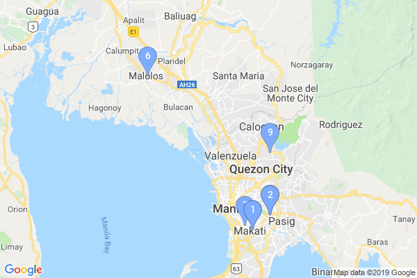 Top Providers - Location Map for Philippines
