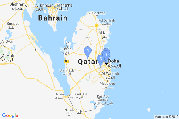 Top Providers - Location Map for Qatar