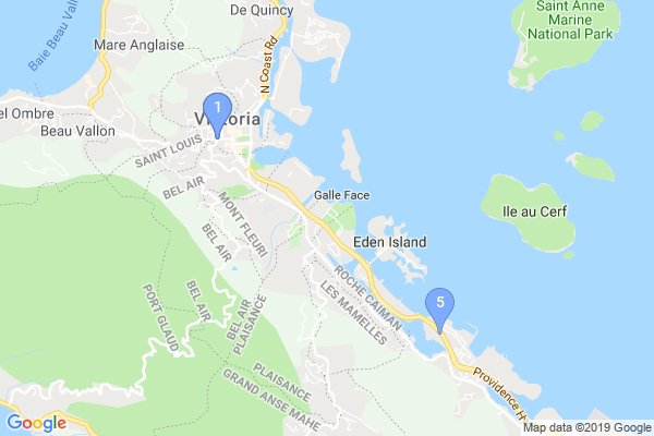 Top Providers - Location Map for Seychelles
