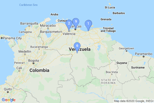 Top Providers - Location Map for Venezuela